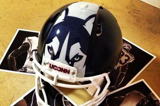 U.Conn huskies debut new logo on helmet