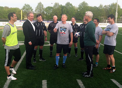 In soccer match, Congress competes for charity