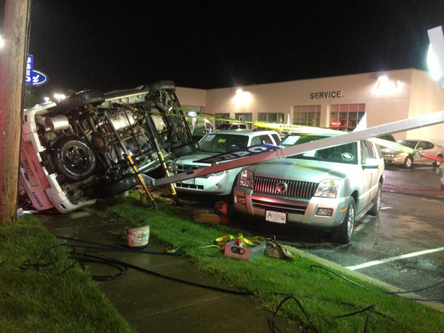 Officer pulled from flipped vehicle