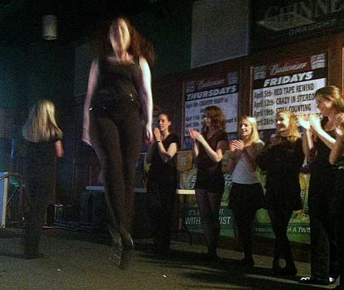 Irish dancers stomp to raise money for Boston's 'tiny dancer' (Video)