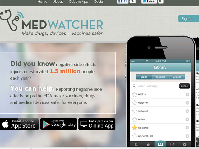 Increasing the likelihood of faulty medical device reporting with new app