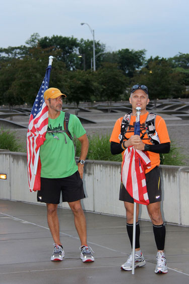D.C. to Boston: Two runners on a mission