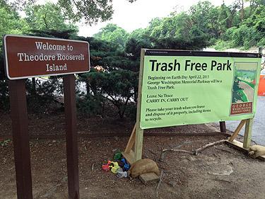 2 dozen area parks eliminate trash cans, not trash