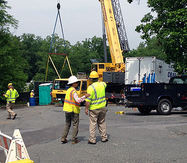 Crane arrives, cleanup to begin at WWI munitions test site