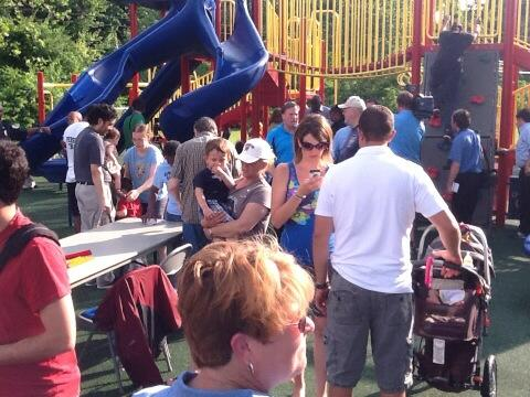 Laurel playground reopens after arson (Photos)