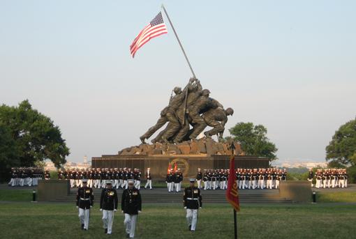 D.C. area's best-kept secret: A sunset parade at Iwo Jima
