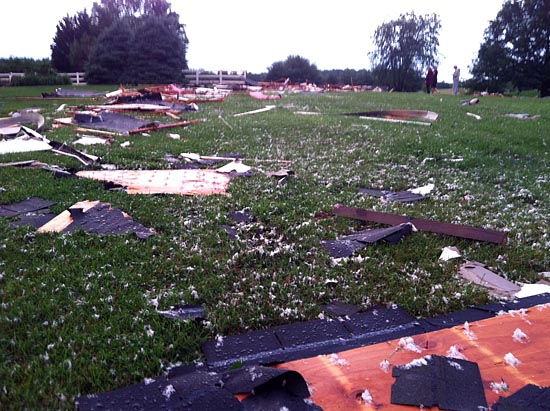 Weather service investigates possible tornado in Howard Co.
