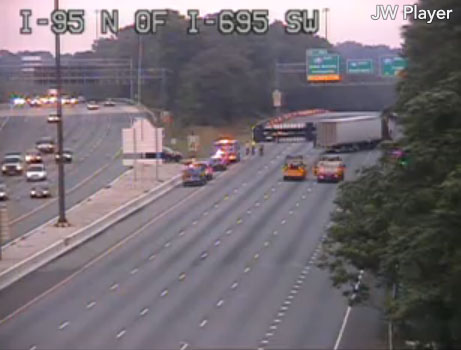 All lanes of southbound I-95 have reopened