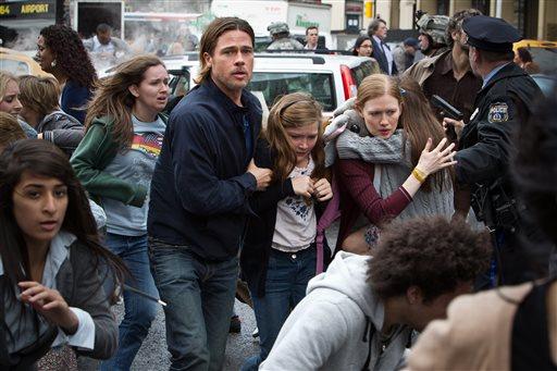 Brad Pitt's zombie gamble pays off in 'World War Z'