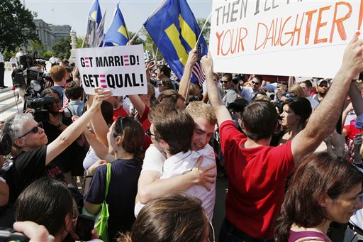 Debate over gay marriage continues despite high court ruling