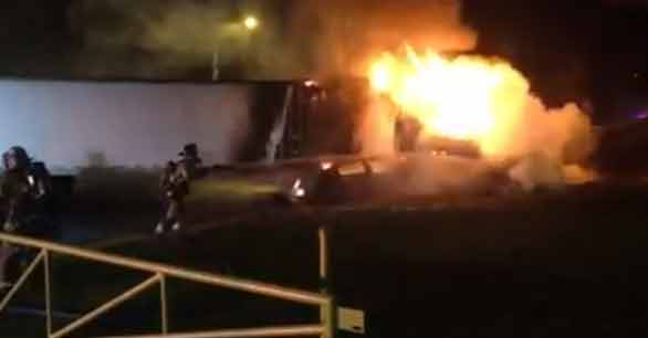 3 teens hurt in fiery crash with tractor-trailer (Video)
