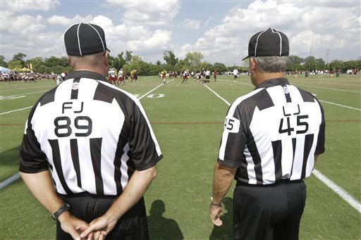Training Camp Notebook: Referees come to camp to explain new rules