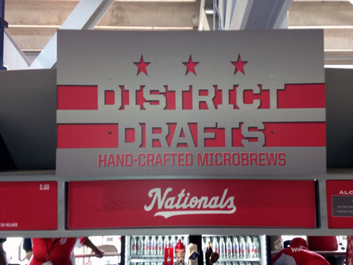 Local beers now at Nationals Park