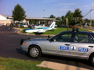 Small plane makes emergency landing in Fredericksburg