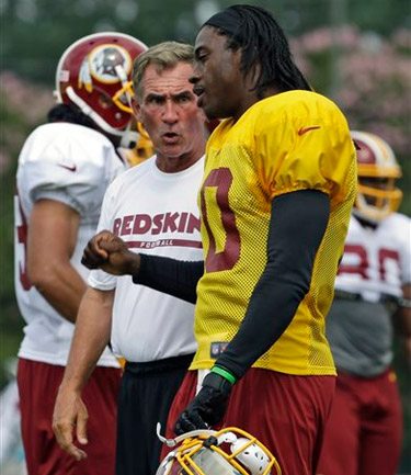 Training Camp Notebook: RGIII vs. Shanahan