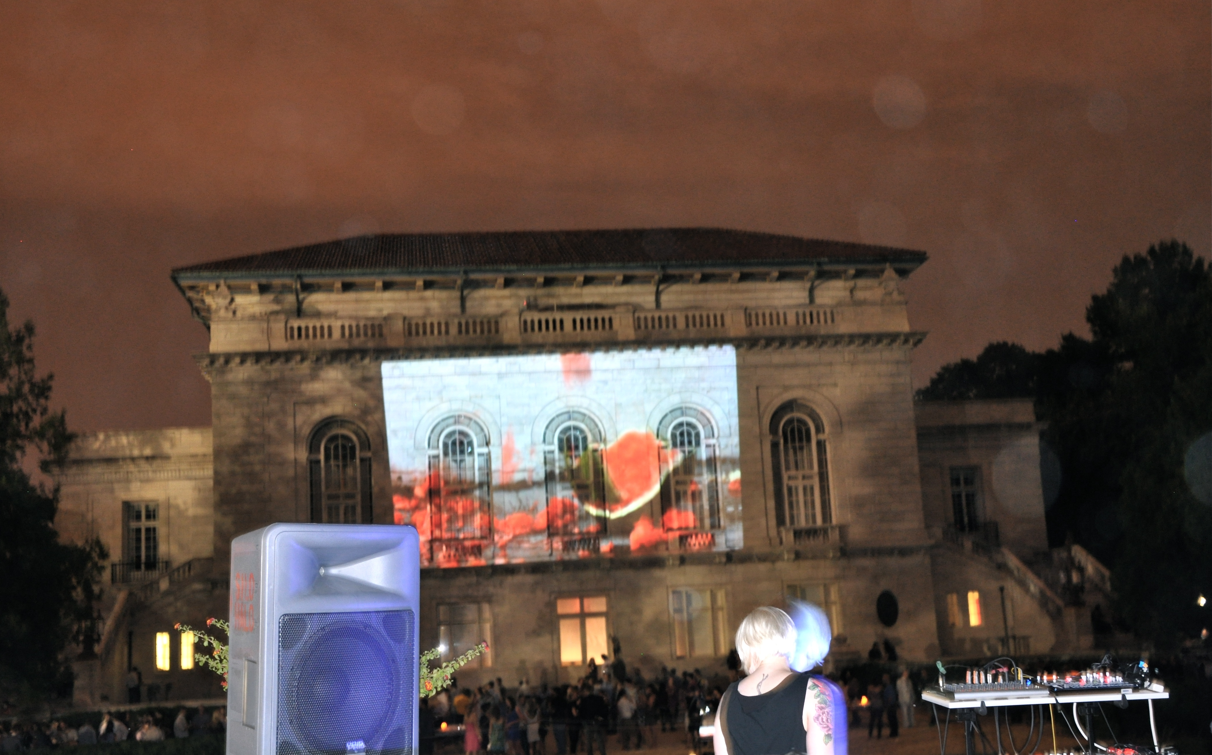 Live music, video art in a garden at Art After Dark