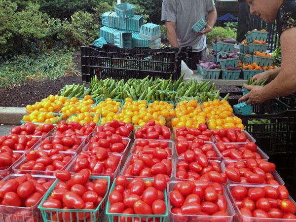 Assuring genuine farmers market food through screening
