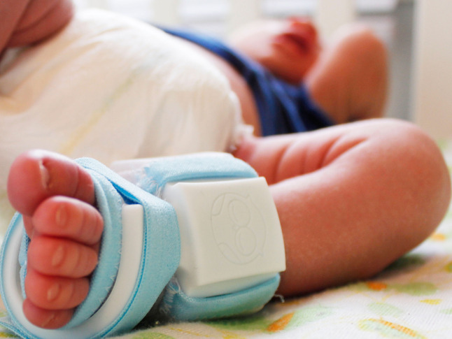 Smart sock soothes nervous new parents