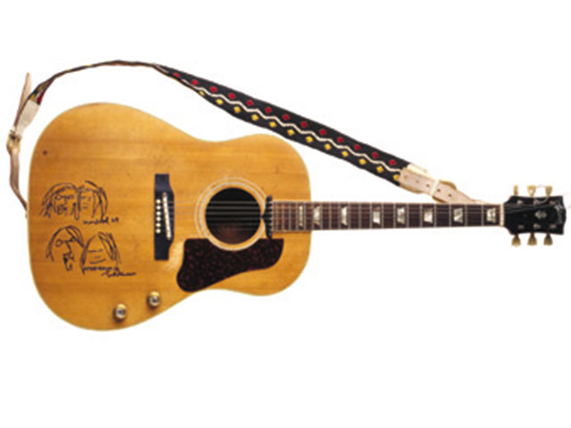 John Lennon's acoustic guitar: Up close and personal