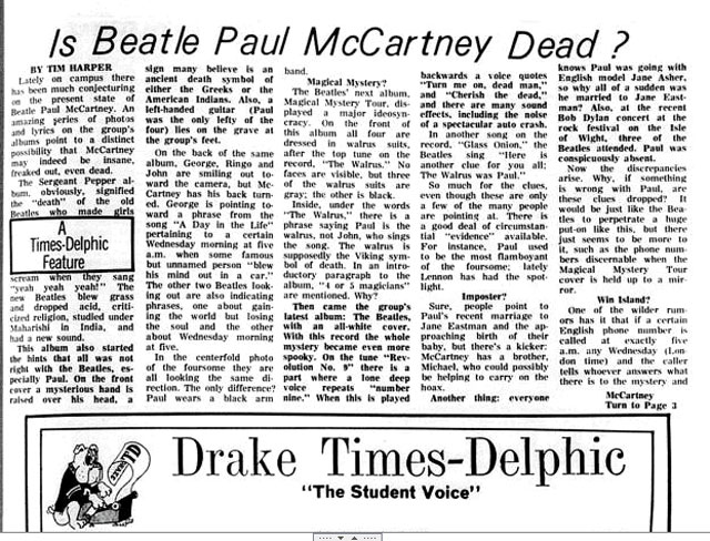 On anniversary of Paul McCartney death rumor: What if Twitter existed?