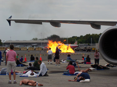 Reagan National Airport simulates accident scene to test first responders