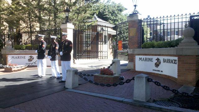 A mix of emotions around the Marine Barracks
