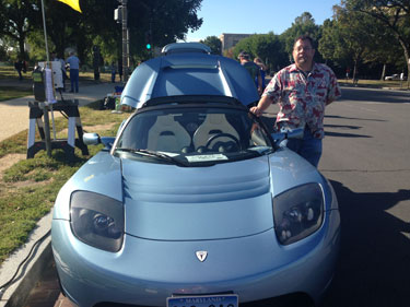 Charge! Electric-car drivers connect at Capitol