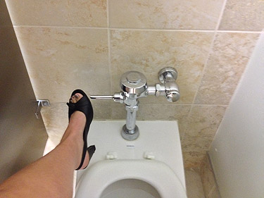 Toilet talk: Two-thirds of Americans use their feet to flush