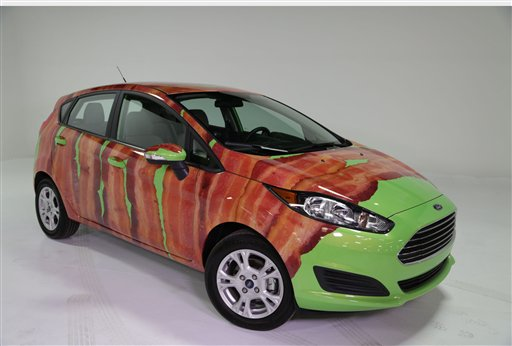 Ford announces bacon-wrapped car