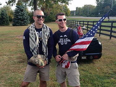 Two Marines walk cross-country for wounded warriors