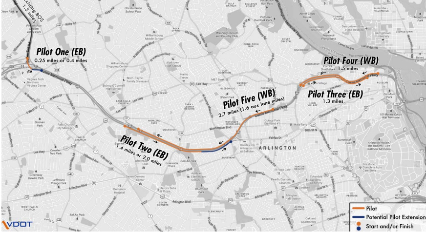 Buses may use I-66 shoulders to ease congestion