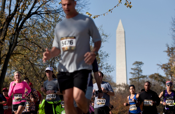 Major roads will be closed for Sunday's Marine Corps Marathon