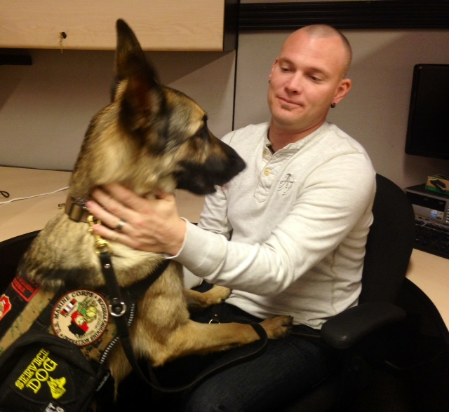 Veteran explains how a service dog changed his life