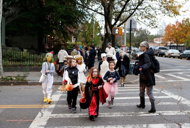 Heads up: Busy mix of traffic and pedestrians on Halloween