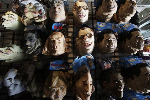 latex halloween masks are displayed in a costume store tuesday oct 8 2013 in new york halloween is oct 31 ap photomark lennihan - Halloween Stores Ny