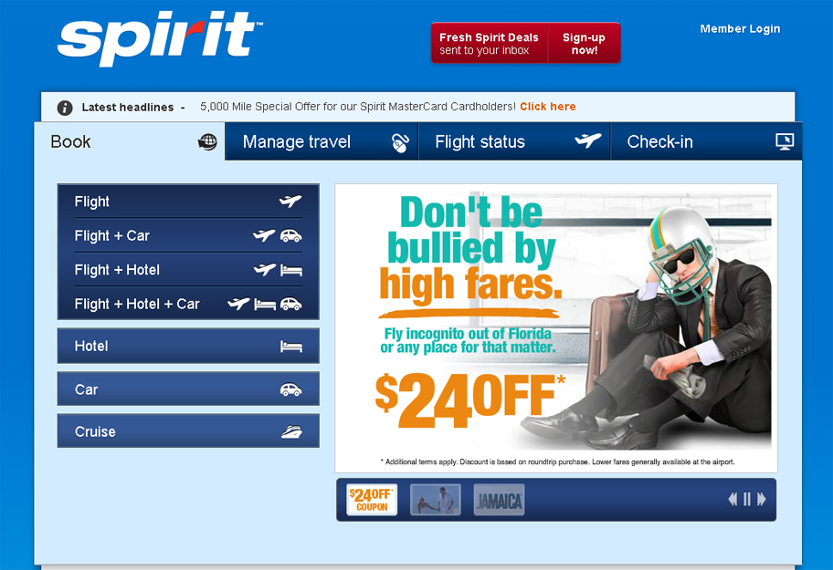 Spirit Airlines runs ad inspired by NFL bullying saga