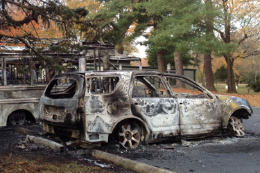 Cars, vans found burning at park in Prince George's County
