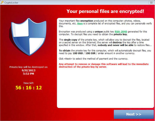 Vicious virus locks-down files, demands ransom
