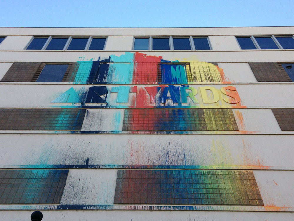 Public art splashes vacant federal building with color, new life