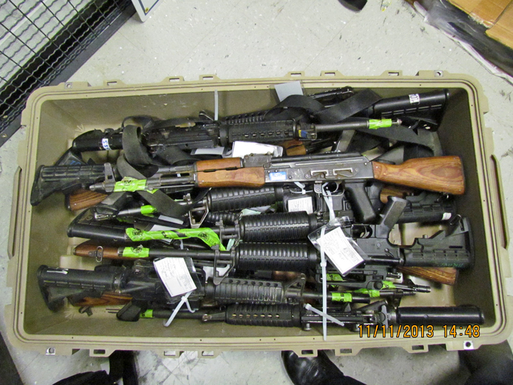 Undeclared weapons seized at Dulles airport