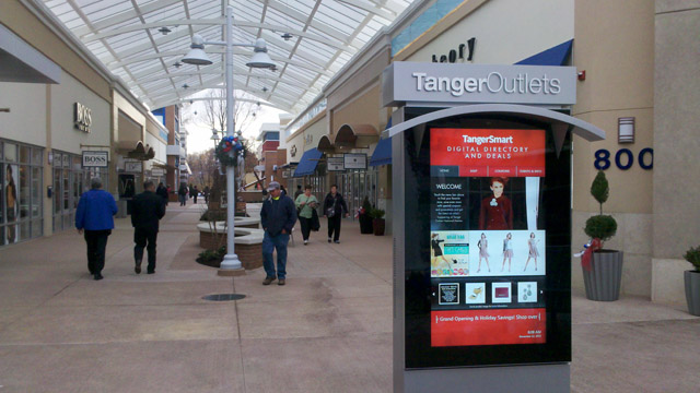 Tanger Outlets Brand-name stores include Pandora, Samsonite, Gap Factory Store, Polo Ralph Lauren, Coach, Under Armour, Michael Kors, Vince Camuto, Nike Factory Store, Columbia, Brooks Brothers Factory Store, J. Crew Factory Store, and many more.
