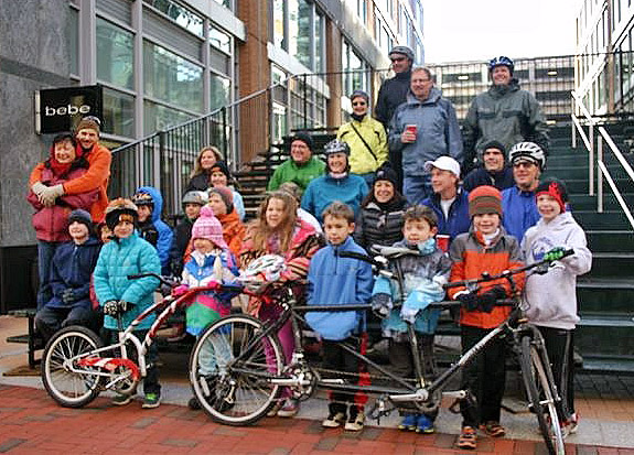 Reston families celebrate with a Thanksgiving bike ride