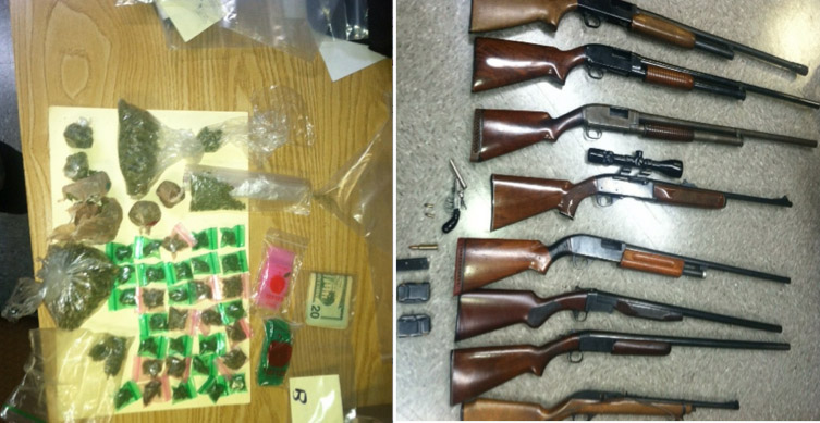 Five arrested after drugs, guns seized in Md. police raid