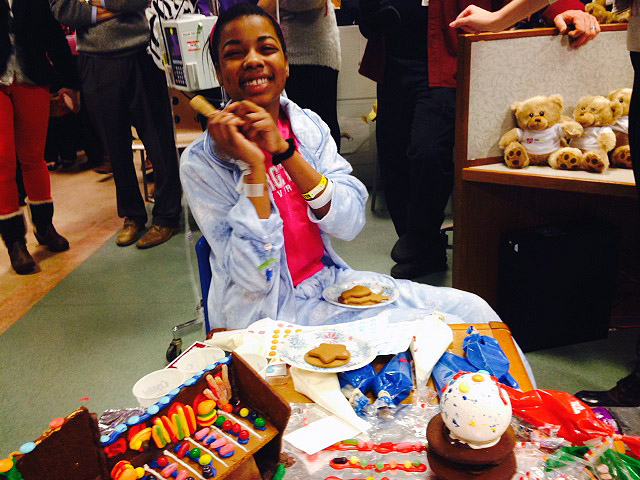 Nats stars plus gingerbread equals joy for sick children