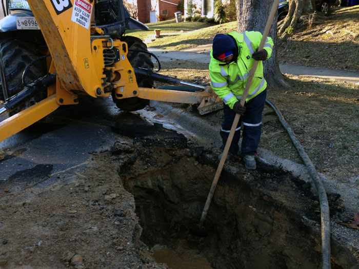 Local water mains go bust