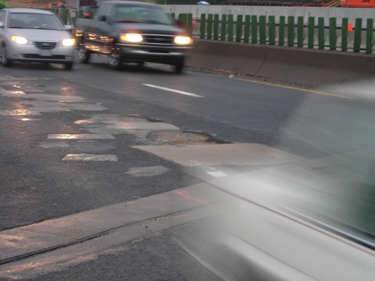 Potholes pose danger to cars and drivers