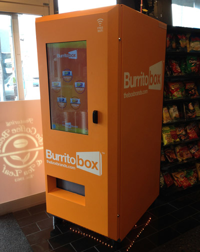 Burritos now come steaming hot from a vending machine
