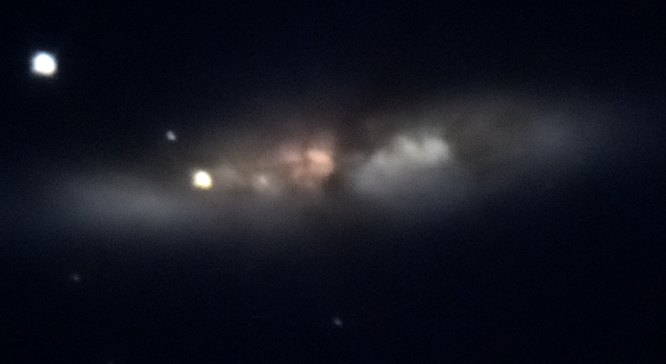 Fire and ice: Supernova and vapor in space