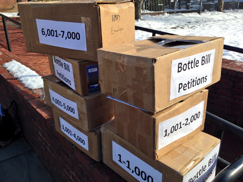 Proposed Md. bill calls for 5-cent bottle deposit