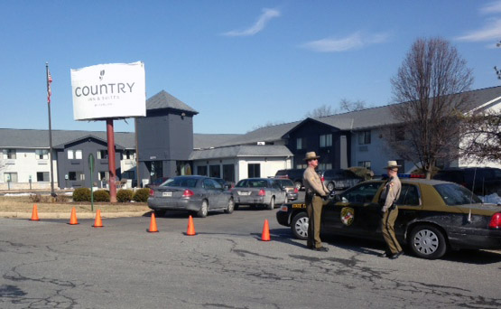 Frederick hotel evacuated for police standoff